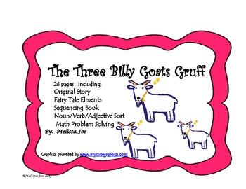 The Three Billy Goats Gruff--Original Story with Literacy/Math Activities