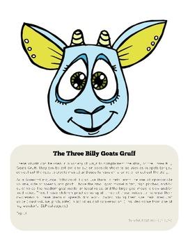The Three Billy Goats Gruff Puppets