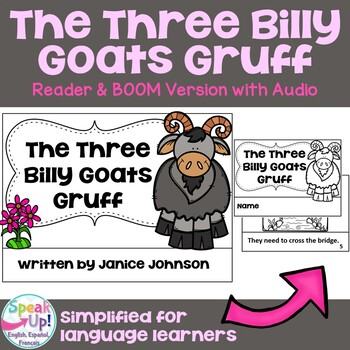 The Three Billy Goats Gruff Reader ~ Simplified for Young Readers