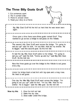 The Three Billy Goats Gruff (Sequencing)
