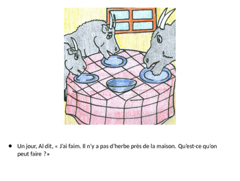 The Three Billy Goats Gruff Story and Activities for French 1