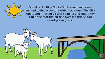 The Three Billy Goats Gruff Story on Power Point by Anna Navarre