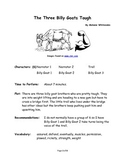 The Three Billy Goats Tough - Small Group Reader's Theater