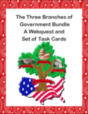 The Three Branches of Government Bundle-A Webquest and Set of Task Cards