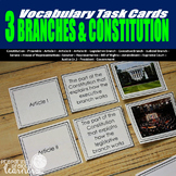 The Three Branches of Government & Constitution Vocabulary