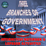 The Three Branches of Government Interactive Notebook Activities