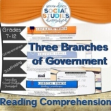 Three Branches of Government   Reading Comprehension Passages and Questions