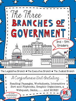 The Three Branches of Government {Reading Passages, Center