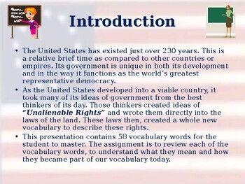 The Three Branches of Government - Unit Vocabulary Exercise