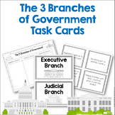 The Three Branches of the Government ~ Task Cards and Activity