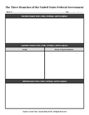 The Three Branches of the United States Federal Government {Graphic Organizer}