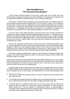 The Three Brothers - Lesson plan on J.K. Rowling's short story