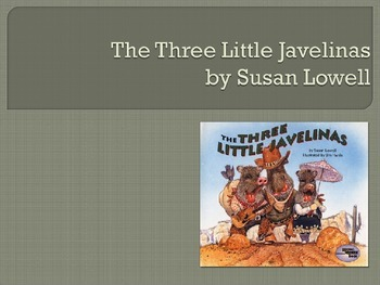 The Three Little Javelinas by Susan Lowell, Collaborative Conversations