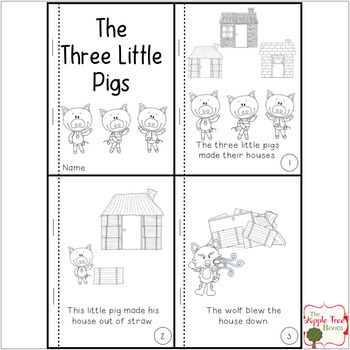 graphic relating to Three Little Pigs Printable identify The 3 Tiny Pigs Actions with CCSS Studying, Crafting, and Math