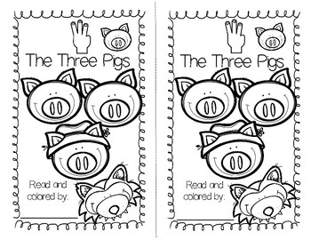The Three Little Pigs - A FREE Book for Beginning/Emergent Readers