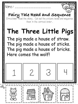The Three Little Pigs - A Fairy Tale Comprehension Unit - Jabber the Reteller