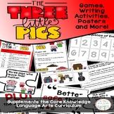 The Three Little Pigs Activities: Sequencing, Plot, Worksheets (CKLA)