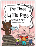 """The Three Little Pigs"" Literacy, Math and Craftivity"