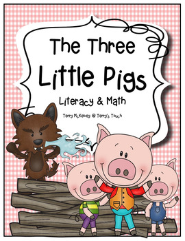 """The Three Little Pigs"" Literacy, Math and Craftivity"