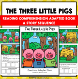 The Three Little Pigs Adapted Question Book & Sequence Set