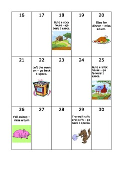 The Three Little Pigs - Board-game