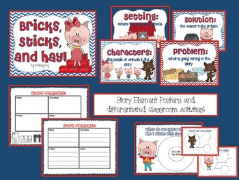 The Three Little Pigs: Bricks, Sticks, and Hay!!!