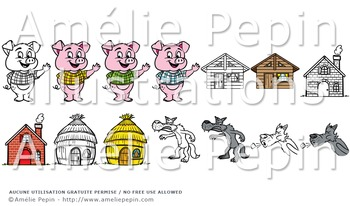 The Three Little Pigs Clip Art