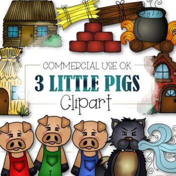 The Three Little Pigs (CU and CU4CU OK) - INSTANT DOWNLOAD