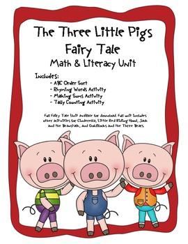 The Three Little Pigs Common Core Literacy & Math Unit