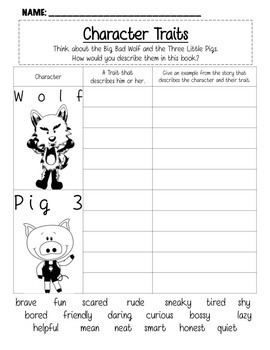 The Three Little Pigs Common Core RL.2.9 Compare Multiple Versions