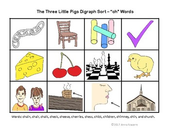 The Three Little Pigs Digraph Sort