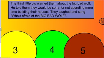 The Three Little  Pigs (Interactive Storybook with video and sound)