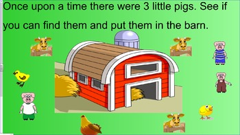 The Three Little  Pigs (Interactive Storybook with video a