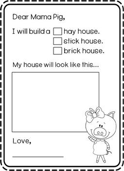 The Three Little Pigs Letter (Letter to Mama Pig) For All Ages