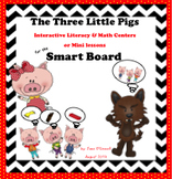 Three Little Pigs Literacy & Math Centers and Activites for the Smart Board