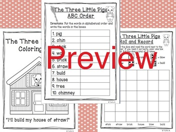 The Three Little Pigs Literacy & Word Work Activity Pack
