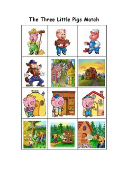 The Three Little Pigs Match