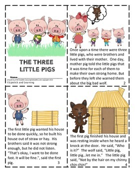 Slobbery image within three little pigs story printable
