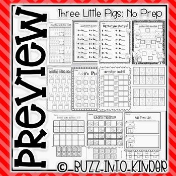 The Three Little Pigs Mini Unit (No Prep Substitute Plans!)
