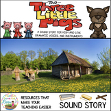 The Three Little Pigs No Prep Sound Story/Drama Masks