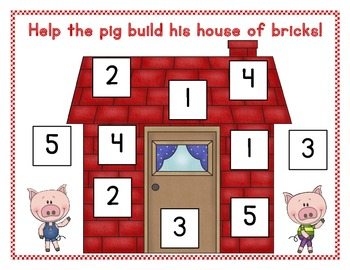 The Three Little Pigs Numbers to Five