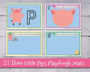 The Three Little Pigs Play Dough Mats