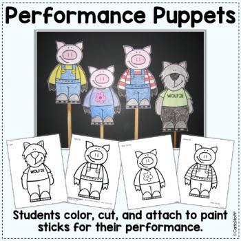 The Three Little Pigs - Reader's Theater & Puppet Fun!