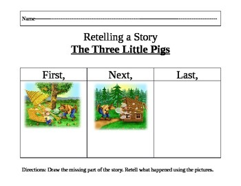 The Three Little Pigs Retelling Activity