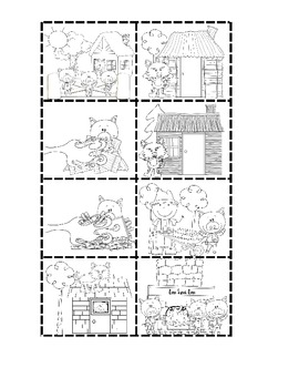 The Three Little Pigs: Retelling Cards Cut and Paste Writing Activity