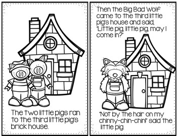 The Three Little Pigs (Retelling Cards and Pocket Chart Activities)
