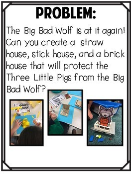The Three Little Pigs Stem Challenge By Sparkle In Second