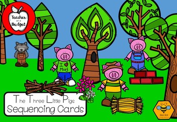 The Three Little Pigs Sequencing Cards - Bee Bots