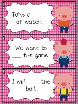 The Three Little Pigs Short i Literacy Activities