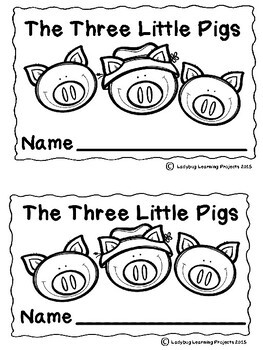 The Three Little Pigs (Emergent Reader, Teacher Lap Book, and Picture Cards)
